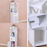 Hot Sale Unit Bathroom Furniture Cabinet Wood Slim Shelf Cupboard Storage Sink