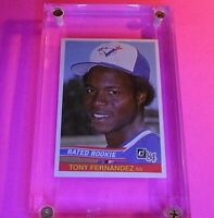 "1984 Donruss #32 Tony Fernandez Rookie Card RC ""Rated Rookie"" NmMt"