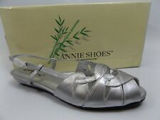 Annie Shoes Women's Kim Wedge SILVER Sandal SZ 6.5 M NEW IN BOX D6088