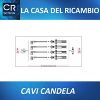 KIT CAVI CANDELA - LANCIA THEMA 2.0 Turbo 16V -  Dal 1988 >