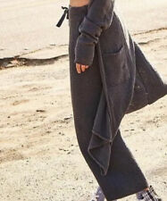 NWT FREE PEOPLE OUT OF OFFICE SET SIZE SMALL GRAY PANTS & DUSTER CARDIGAN