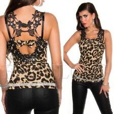 Classic Neckline Blouses for Women's Leopard