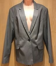Sainsburys TU Size 20 Grey Suit Jacket Blazer Office Career Wear Machine Wash
