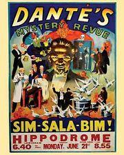 Vintage Antique   Magic Freakshow Circus  Dante's Hippodrome   POSTER