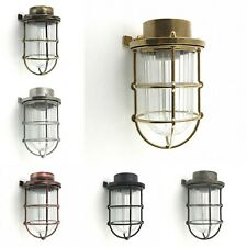 Solid Brass Bulkhead Wall Outdoor Indoor Light Industrial Style AGAMEMNON