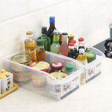 Kitchen Clear Plastic Fridge Drawer Food Fruit Storage Basket Box Tray Organizer