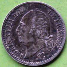 FRANCE 1/4 DE FRANC LOUIS XVIII 1817 W