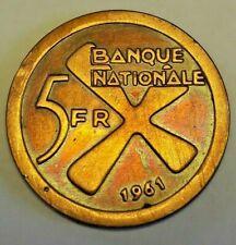 => 5 Francs Katanga 1961 Belgique KM3 Belgisch Congo République indépendante <=