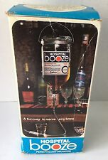Vintage Hospital Booze Decanter Gag Gift In Original Box Wet Bar Party