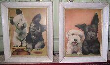 Vintage Mid Century Modern Scottie Dog Prints Puppies & Smiles