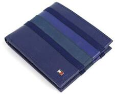 NEW TOMMY HILFIGER MEN'S LEATHER DOUBLE BILLFOLD WALLET COBALT BLUE 31TL130011