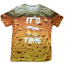 New listing Mens Large T Shirt - IT'S Beer Time - Beer Lovers Full Print