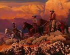 "Mark Maggiori BIG SKY MAJESTY Art Print 27"" x 22"" Western Cowboy IN HAND"