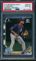 PSA 10 CJ ABRAMS 1st 2019 Bowman Chrome Draft Padres Rookie Card RC GEM MINT