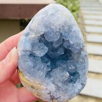 543g Rare Top Grade Gorgeous Sky Blue Celestite Rough Reiki Crystal