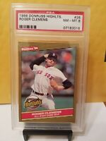 Roger Clemens 1986 Donruss #26 PSA 8 BOSTON RED SOX
