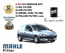 Per PEUGEOT 206 Van 1.4 HDi 2002-12/2006 Olio Aria Carburante Polline Filtro Servizio Kit