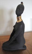 Russian Soviet Porcelain Figurine African Black woman vintage Статуэтка Африка