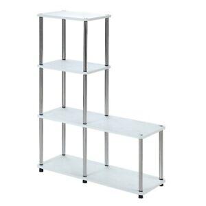 "Convenience Concepts Designs2Go Multi Shelf ""L"" Bookshelf, White - 151077W"