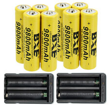 18650 Battery Li-ion 3.7V Rechargeable with US Charger For LED Flashlight