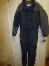 Columbia Men's Snowsuit w/Hood Size Large Gray with Purple Trim Very Padded.
