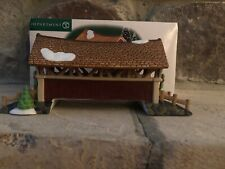 Dept 56 New England Village 1999 Mill Creek Crossing Covered Bridge 56623