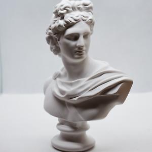 Apollo Greek Roman God Bust Head Statue 6 Inches Height