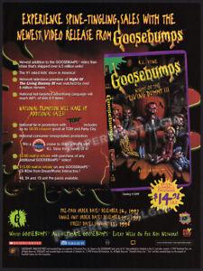 GOOSEBUMPS__Orig. 1997 Trade Print AD / ADVERT__R. L. STINE_Hayden Christensen