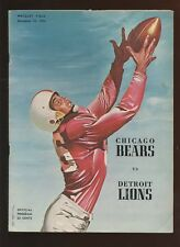 December 16 1956 NFL Program Detroit Lions at Chicago Bears EX