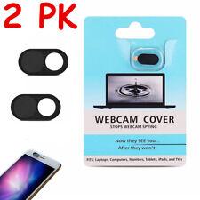 2-PK Webcam Cover Web Camera Privacy Blocker Computer 0.03in Ultra-Thin Black