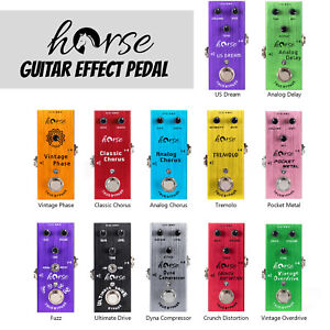 Horse Guitar Effect Pedal Mini Single Type DC 9V True Bypass for Electric Parts