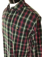 Vintage WOOLRICH Ancient Sutherland Plaid Flannel Shirt Button Front sz Med VTG