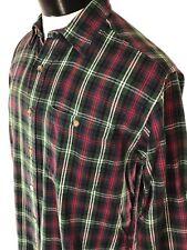 Vintage WOOLRICH Ancient Sutherland Plaid Flannel Shirt Button Front sz Med VTG
