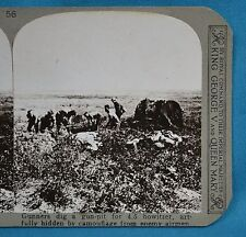 WW1 Stereoview Gunners Dig Gun Pit For Howitzer Camouflaged Realistic Travels