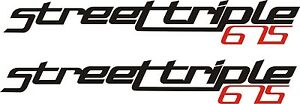 Triumph Street  triple 675 vinyl stickers