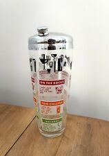 More details for vintage cocktail shaker glass