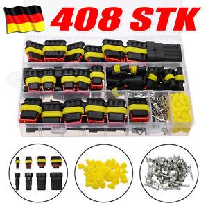 408x KFZ Stecker Steckverbindung Steckverbinder 1-4 Polig Auto Wasserdicht Kabel