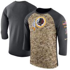 Washington Redskins NFL Mens Nike Camo Salute to Service 3/4 Sleeve Shirt, Large