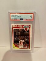 1989 Fleer Michael Jordan Chicago Bulls HOF Basketball Card PSA Mint 7 #21