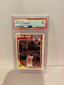 1989 Fleer Michael Jordan Chicago Bulls HOF Basketball Card PSA Mint 7 #21