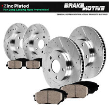Front & Rear Drill Slot Brake Rotors & Ceramic Pads For 2004 - 2011 Galant 4cyl