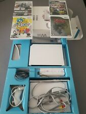 Nintendo White Wii Console In Box Plus 4 Game Bundle *NO WII SPORTS* TESTED!