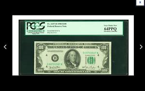 007 James Bond SERIAL CLEVELAND Fr. 2157-D $100 1950 PCGS Very Choice New 64PPQ