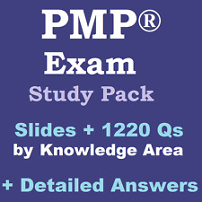 PMP CAPM Exam Study Pack 1220 Questions + Slides on PMBOK 5 / PMI 2016 Syllabus