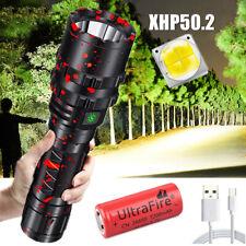 Taktische 9900000LM XHP50.2 LED Taschenlampe 5 Modi LED USB Wiederaufladbare DHL