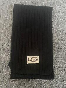 ugg scarf Black With Large Logo Used