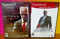 Hitman 2 + Blood Money -  PS2 Playstation 2 Tested Game Lot Complete + Working