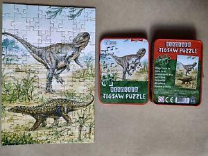 88 PIECE JIGSAW PUZZLE THE NATURAL HISTORY MUSEUM DINOSAUR MINI TIN PREHISTORIC