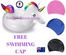 Giant Inflatable Unicorn Tube Pool Float-Free Gift->Swimming Cap~Aussie Floaties