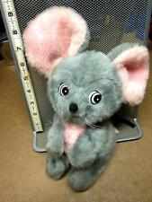 RUSHTON COMPANY vtg plush Gray Mouse 1970s carnival toy Atlanta